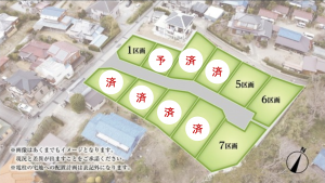 長須賀区画図